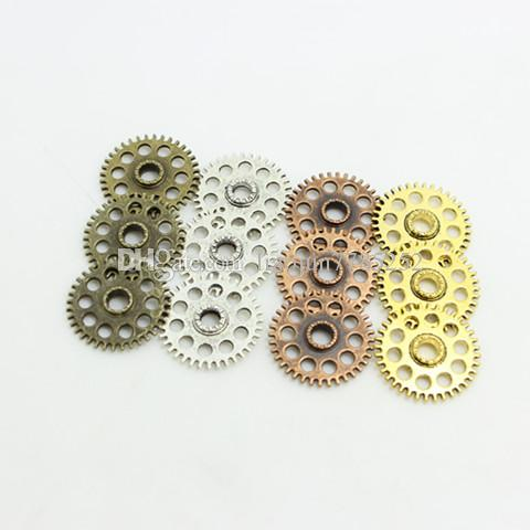 Sweet Bell Four color Alloy Gear Charm Jewelry Gear Jewelry Findings 26mm D0145