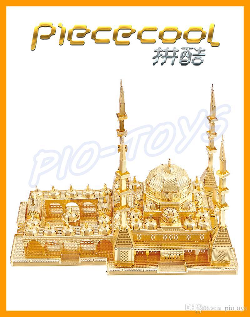 جديد وصول هدية قلب الشيشان المسجد 3d المعادن نموذج بناء لغز diy البناء البسيطة مجموعة فاخرة لعبة الحاضر