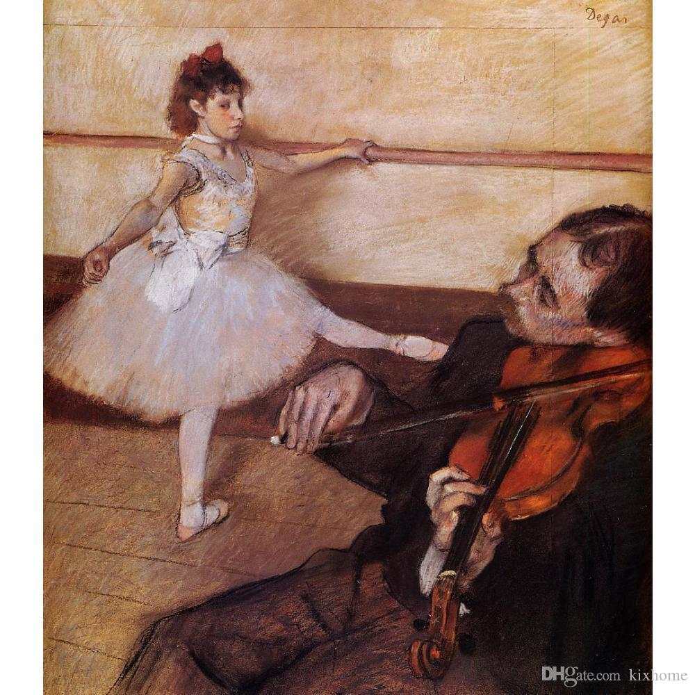 Compre Arte De Edgar Degas La Lección De Danza Pintura Al Óleo ...