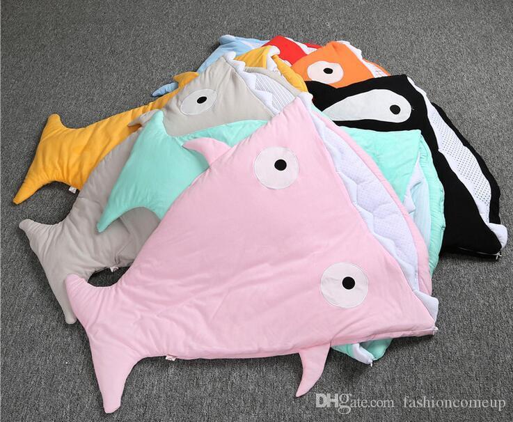 Shark Pillow Sleeping Bag 2016 newborn baby sleeping bags shark shape cotton winter