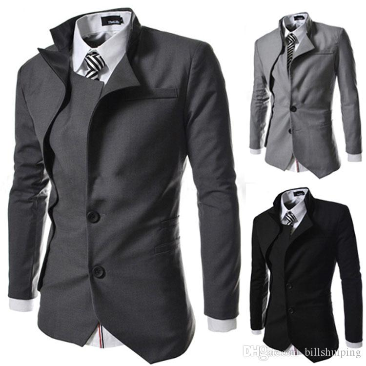 d7cb9c66a4 New Brand British Style Slim Men Suits Mens Stylish Design Blazer Casual  Business Fashion Jacket free shipping