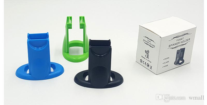 Supporto spinner Fidget vari modelli Supporto spinner Supporto display in plastica rigida Supporto spinning Kicstand