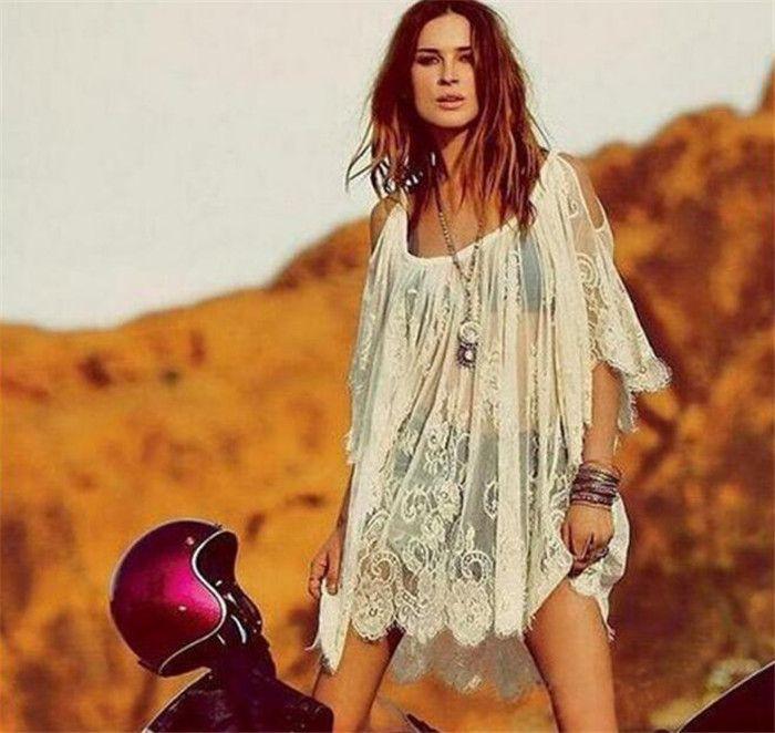 100 adet Yaz Moda kadın Seksi Kayış Sırf Çiçek Dantel Işlemeli Tığ Plaj Kapak Up Elbiseler SiyahBeyaz M066