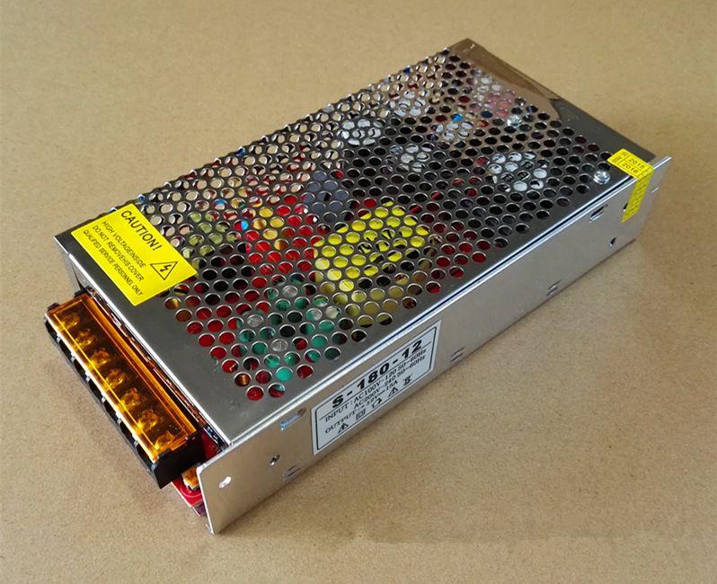 LED Işık Şeridi Ekranı için 12V 15A 180W Switch Güç Kaynağı Sürücüsü 220V / 110V, ucuz !! H388