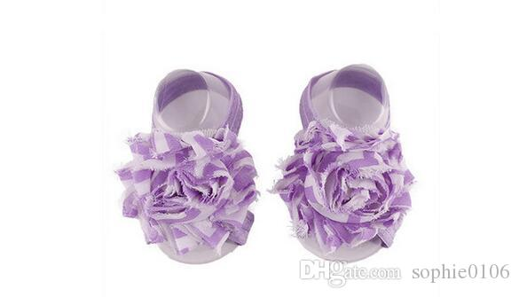 Baby Sandals Infant Chiffon Flower Shoes Cover Barefoot foot Flower Ties Decoration Infant Children Girl Kids First Walker Shoes Photograph