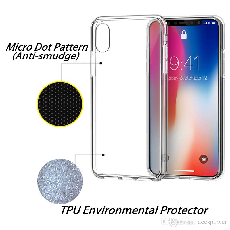 il nuovo IPhone XR XS MAX 8 Plus Custodia in TPU trasparente 0.3MM Samsung Galaxy S10 Plus S9 Nota 10 Cover morbida