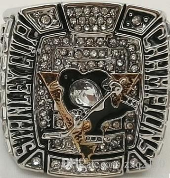 Men fashion sports jewelry 2009 Pittsburgh Pen guins championship ring fans souvenir gift