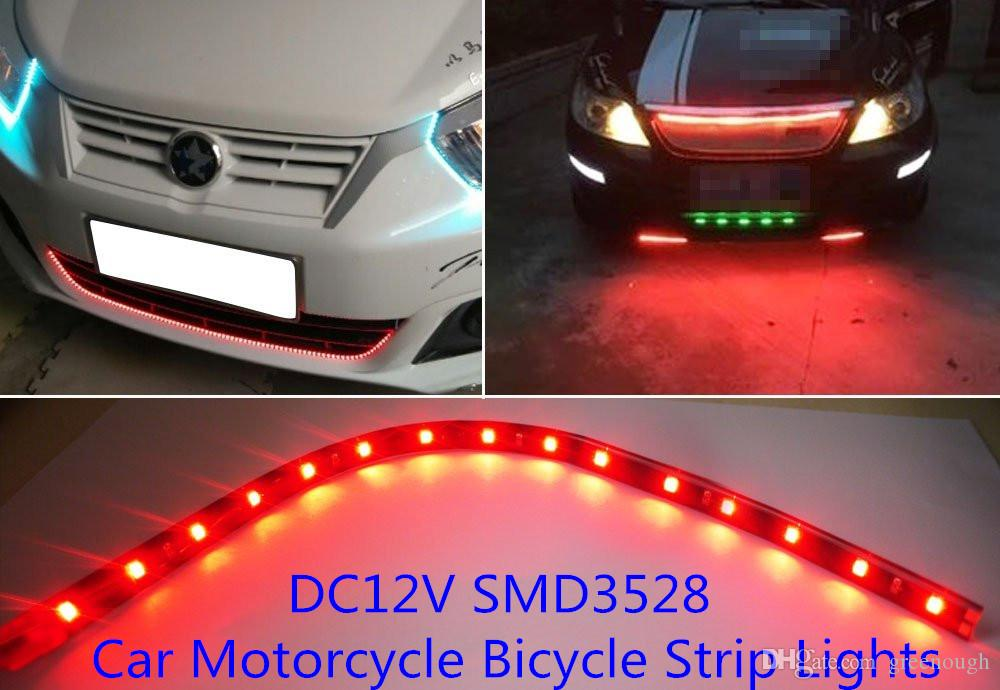 12v ultra bright waterproof led strip light 30cm auto car daytime 12v ultra bright waterproof led strip light 30cm auto car daytime running light flexible decoration lamp soft light bar white red blue green strip led aloadofball Image collections
