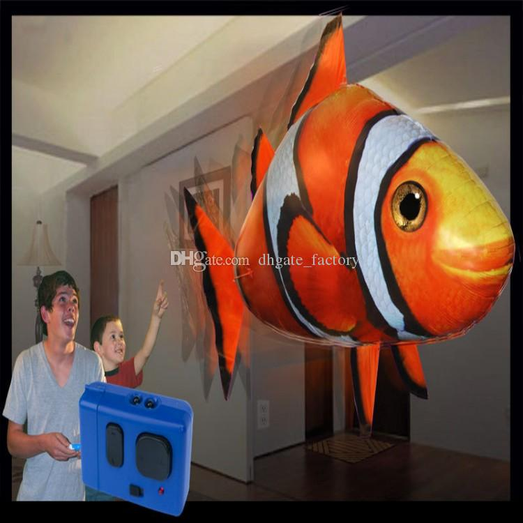 IR RC Air Swimmer Squalo Pesce pagliaccio Flying Air Swimmers Gonfiabile Assembly Nuoto Pesce Pagliaccio Telecomando Blimp Balloon Air Swimmer Toy