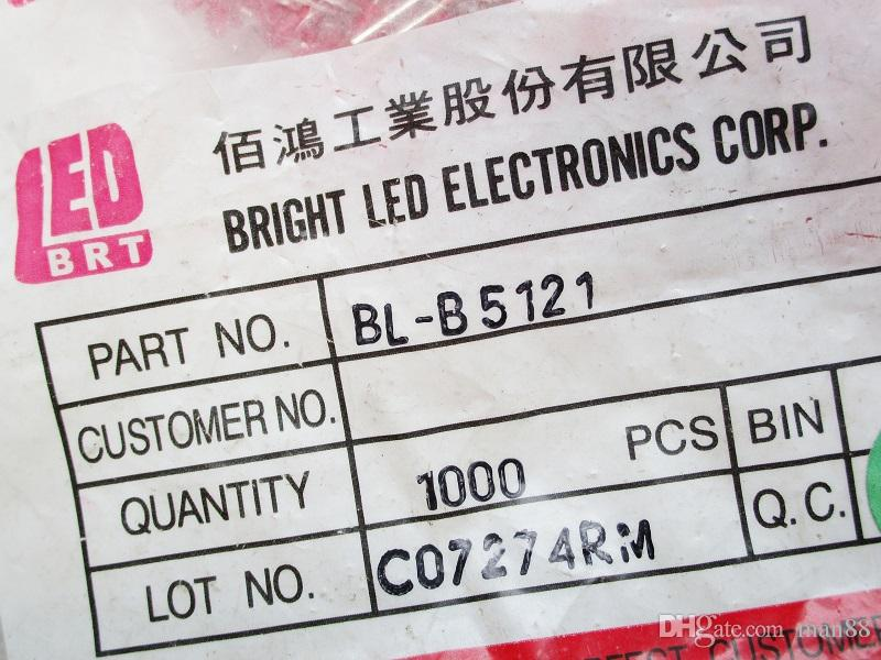 Tayvan PARLAK 5MM kırmızı kızıl saçlı kırmızı vurgulamak kesinlikle otantik lamba boncuk led