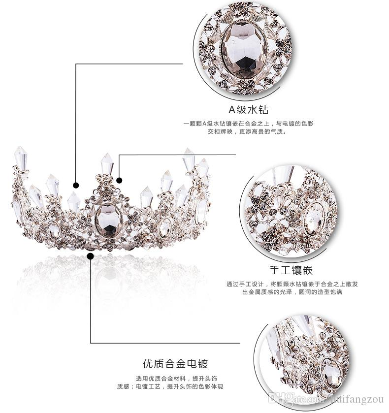 Wedding Veils And Headpieces Cheap Women's Rhinestone Crowns Wedding Special Occasion Bling Braidal Outdoor Headbands