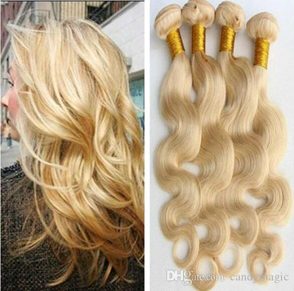 8a Brazilian Hair Weave 14inch To 34inch Blonde Virgin Human Hair