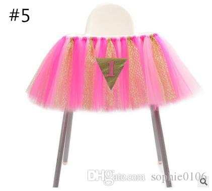 Tutu Chair Skirts Covers Wraps Sashes Decorations For Country Weddings Birthday Baby Bridal Showers Table Cloth HB 001