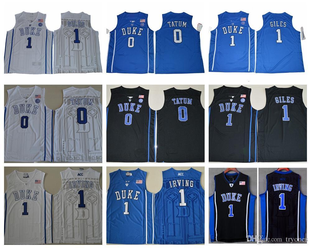 915e084685e5 Compre 2017 Duke Blue Devils College Baloncesto Jersey 0 Jayson Tatum 1  Harry Giles Camisas 1 Kyrie Irving University Stitched Jerseys A  14.62 Del  Tryones ...
