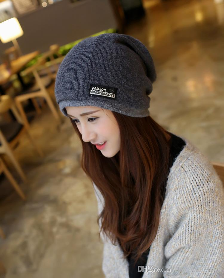7e625b45b06 2019 2017 Fashion Women S Winter Hat Knitted Wool Beanies Female Skullies  Casual Outdoor Ski Caps Thick Warm Hats For Women From Chen394931608