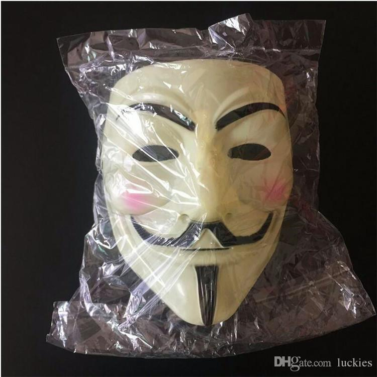 Hot V for Vendetta Anonymous Guy Fawkes Resin Fancy Cool Costume Cosplay Maschera feste, Feste,
