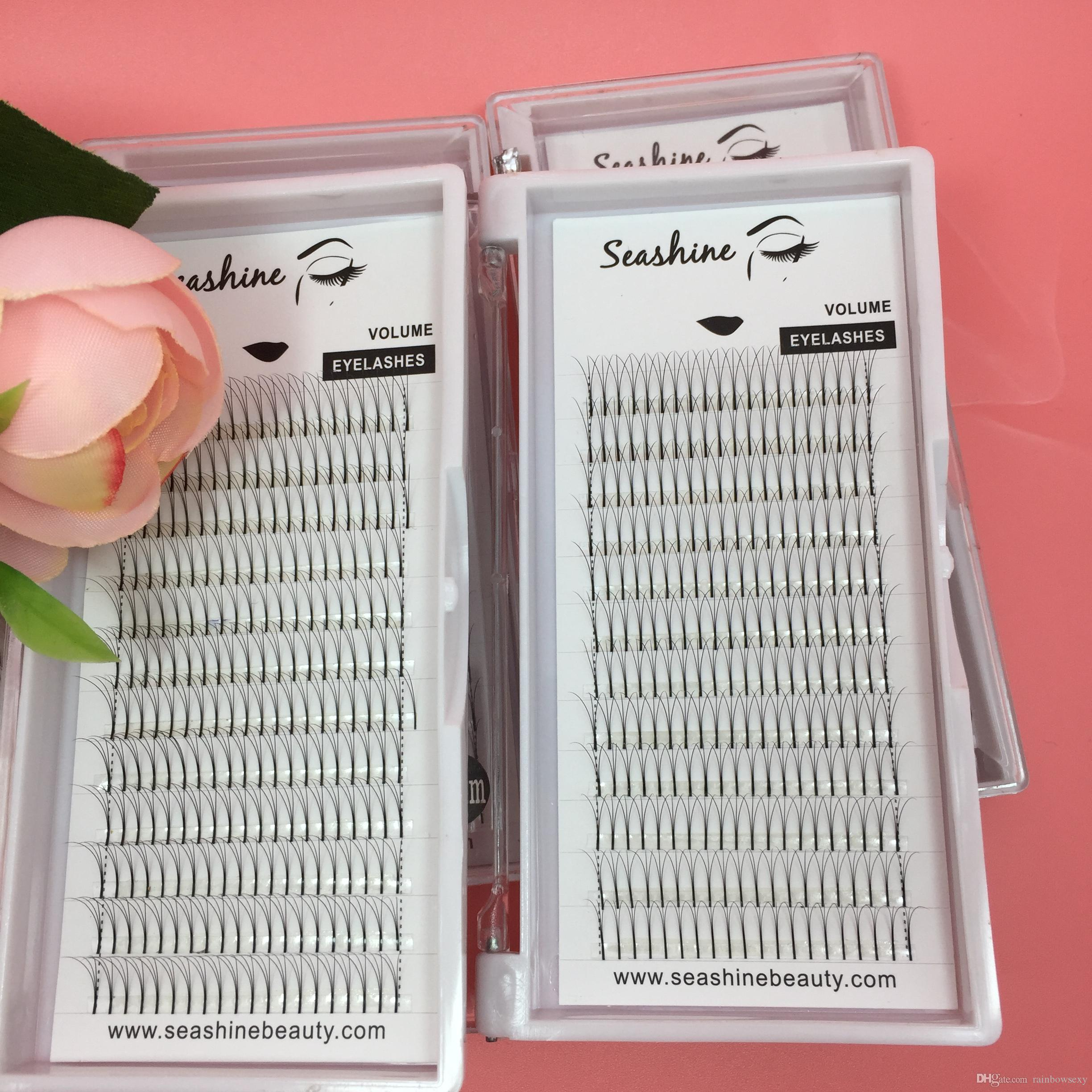 2trays Top quality 3D volume fans lash 0.07/0.10mm C D curl individual eyelash false eyelash extension handmade large stock