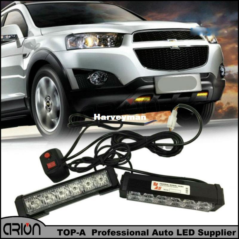 Strobe Lights For Trucks >> 36w 2x6 Led Police Strobe Lights Vehicle Work Light Bar Car Warning