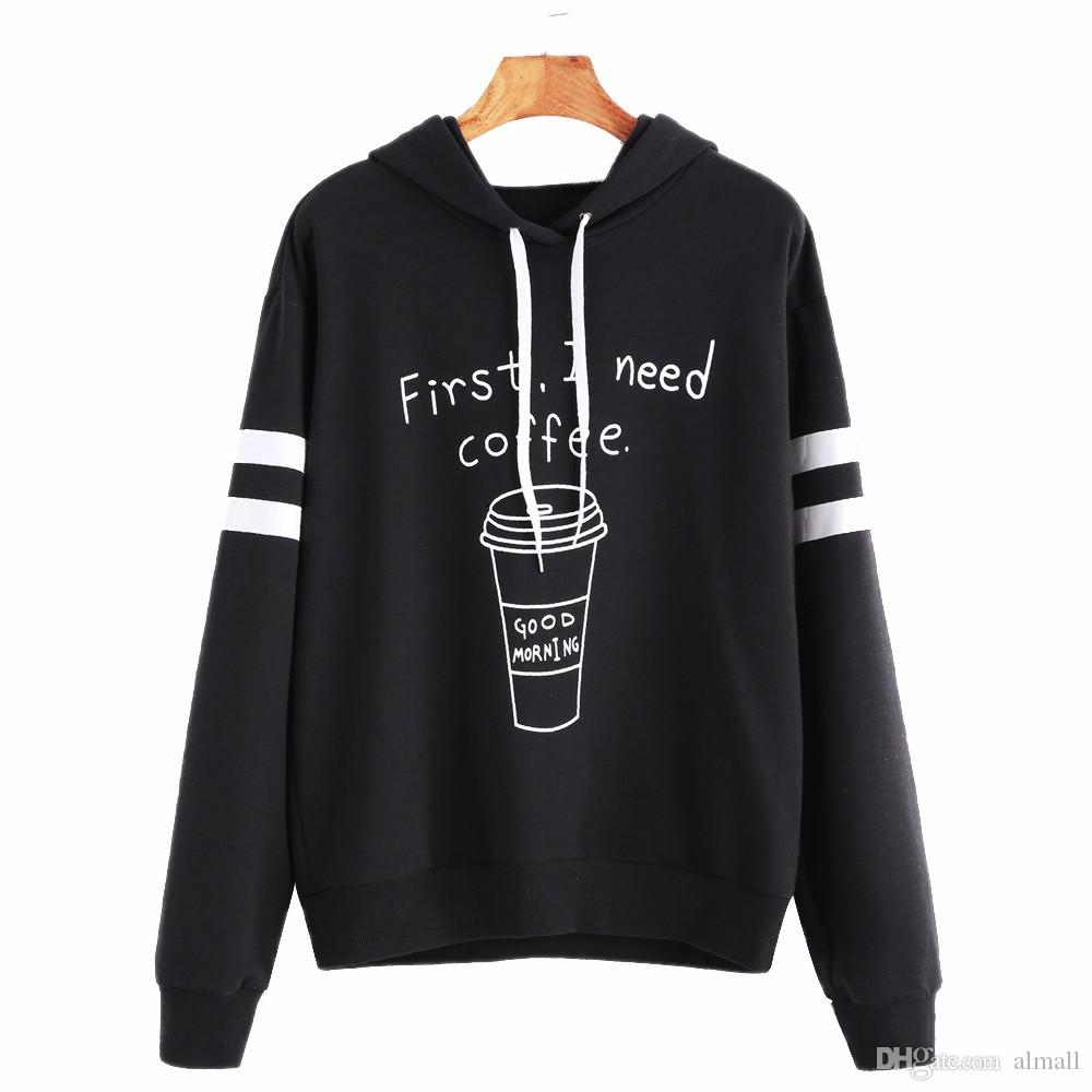 2019 Newest Sweatshirt Women Unique Letter Long Sleeve Hoodie Sweatshirt  Jumper Hooded Pullover Crop Tops Sudaderas Mujer Moletom From Almall 202209218