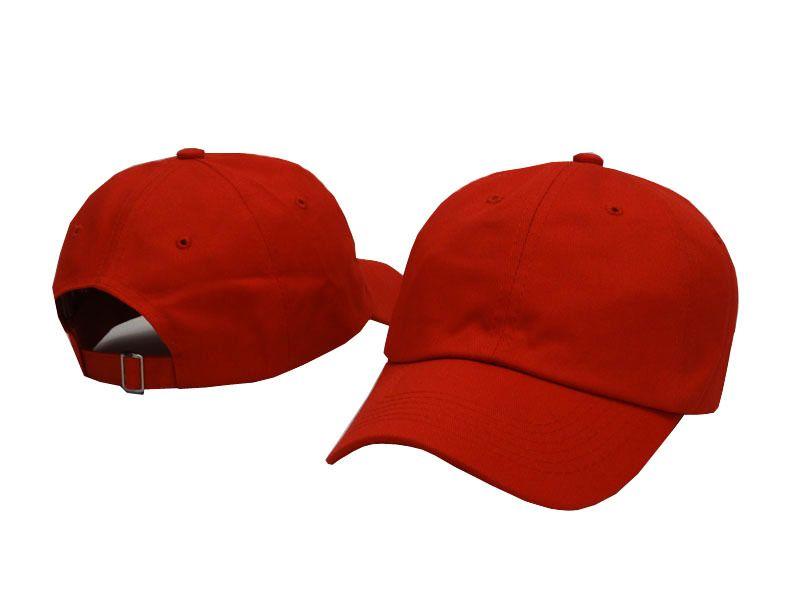 a613873022d59d Bone Blank 6 Panel Cap Red Strapback Snapback Hats Cheap Men Women ...