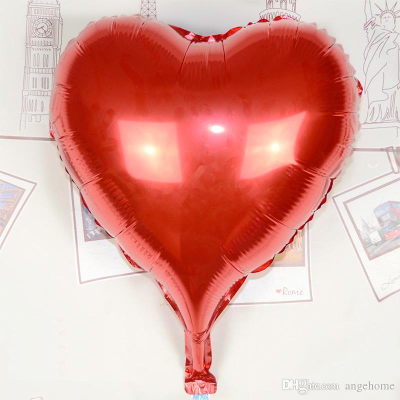 30inch 75cm amo balões - 6 cores Heart Shaped Foil Balloon Large fontes do casamento Air Ballons decoração do partido de aniversário