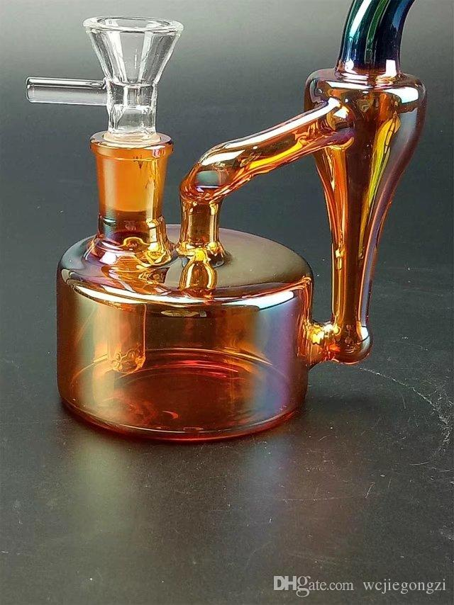 New Design multicolor glass bong oil rigs bongs pipe hookah recycler perfect glass bongs Bubbler recycler oil rigs bongs pipe