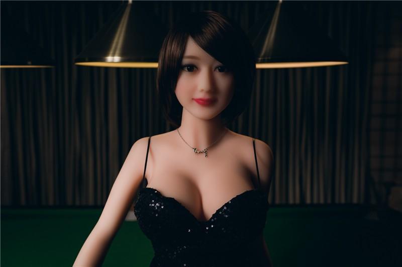 148cm Black hair sexy woman girl real silicone sex doll lifelike feeling TPE cyberskin Asian face lady doll
