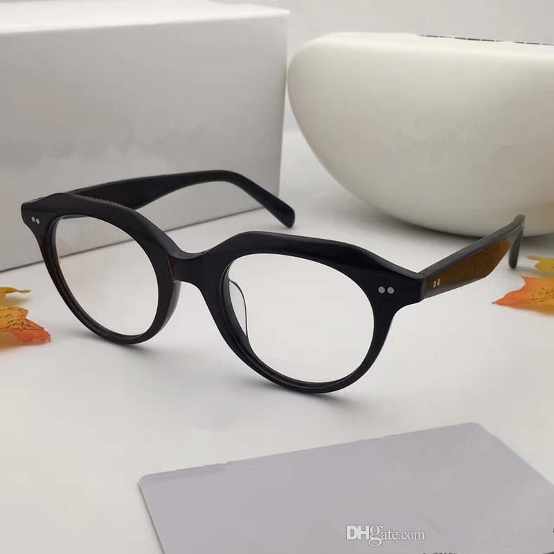 746d2a73f10 41458 Luxury Fashion Women Brand Designer Popular Glasses Optical Lens Oval  Round Full Frame Black Tortoise Brown Grey Come With Case 41458 Sunglasses  ...