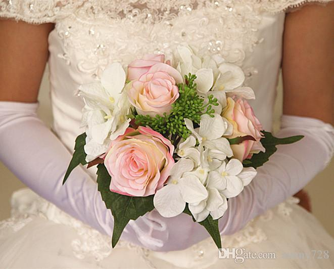 Hot Sale Wedding Bridal Bouquet Faxu Flowers New Style Artificial Festive Party Wedding Home Garde Room Decorative Flowers