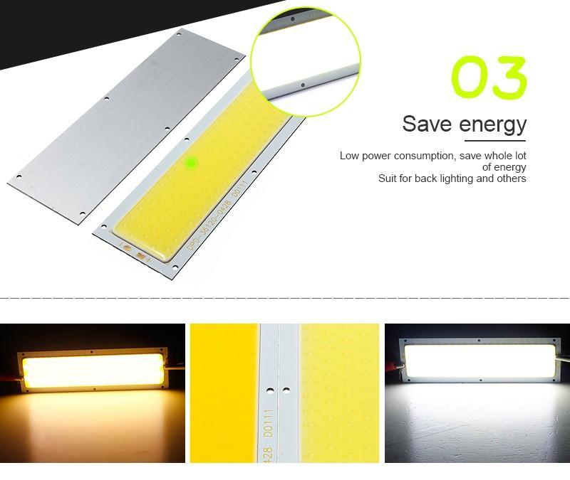 COB LED Panel Streifen Licht Chip 10 Watt Lampe Auto Lichtquelle Warmweiß Reinweiß Für DIY Scheinwerfer Bodenbeleuchtung DC12-24V