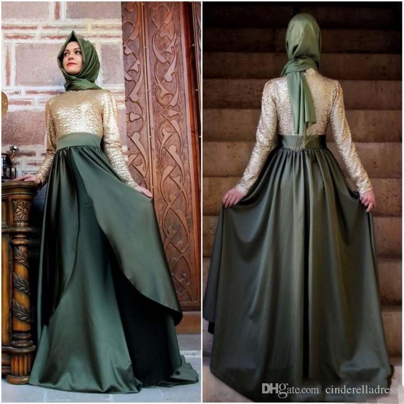 2017 Emerald Green New Dubai Muslim Long Evening Dresses Kaftan Arabic  Turkish Evening Robe Abayas For Woman Islamic Prom Party Dresses Pink  Dresses Elegant ... cd6b5eaf6b89