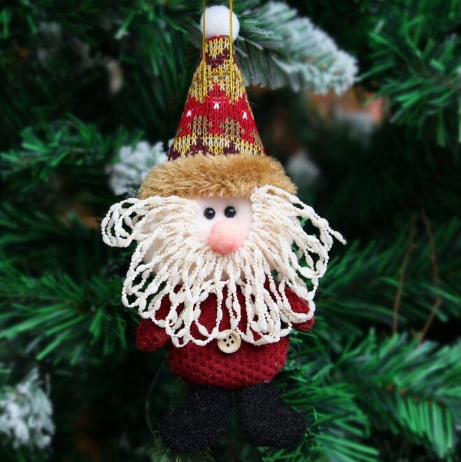 Santa Claus Snow Man Doll Christmas Decorations Xmas Tree Gadgets Ornaments Doll Christmas Gift G666