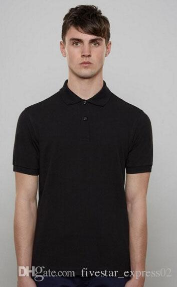 London Men Solid Polo Shirt Embroidery Fred Tops Short Sleeve Perry