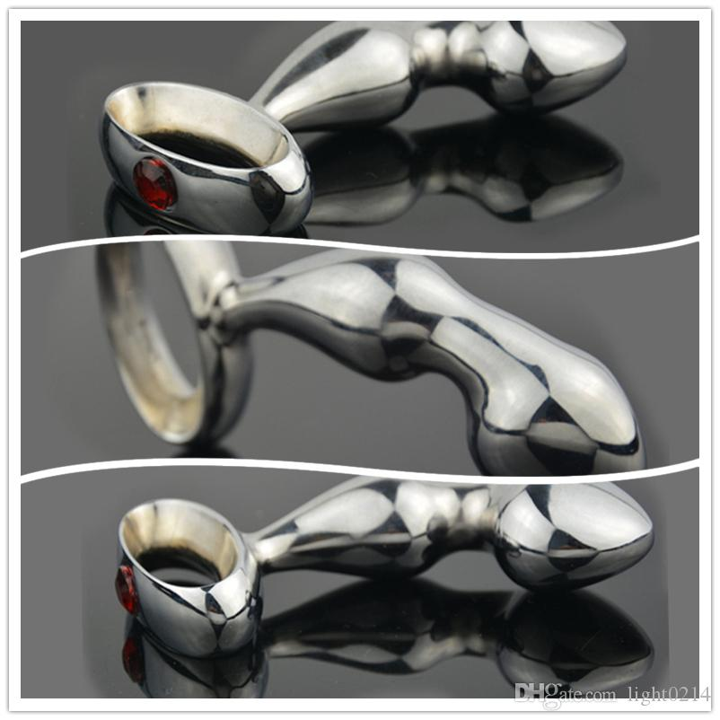 Anal Plug Quality Stainless Steel With Suspension Link Anal Hook Butt Beads Anal Massager Erotic Adult Products Sex Toy H32