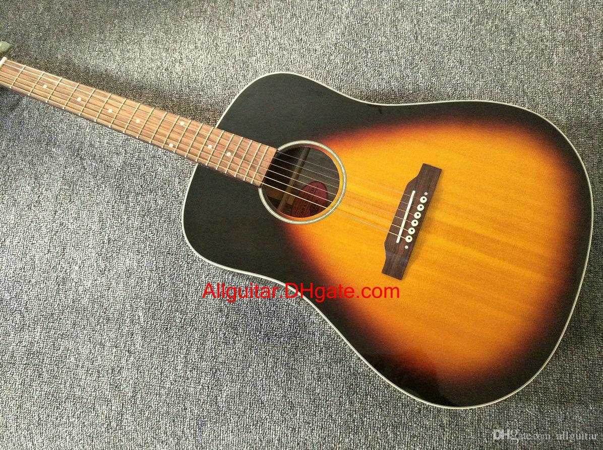 2017 new brand guitar j45 sunburst wood acoustic guitar in stock china guitars acoustic guitars. Black Bedroom Furniture Sets. Home Design Ideas