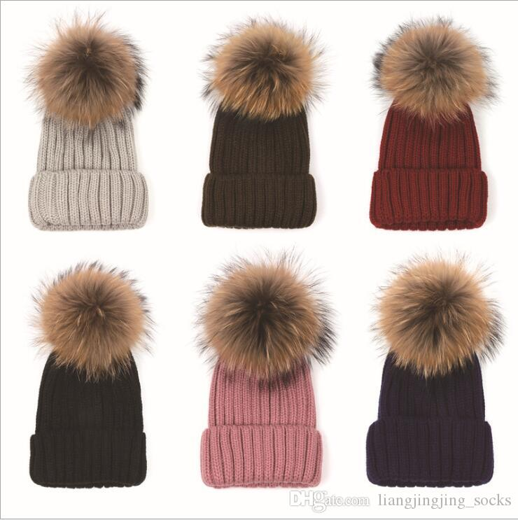 f1efebcd433 Quality Removable Real Mink Fox Fur Pom Poms Ball Acrylic Beanies Winter  Warm Plain Hats Adults Slouchy Mens Womens Warm Hat YYA530 Fox Fur Hat Warm  Beanie ...