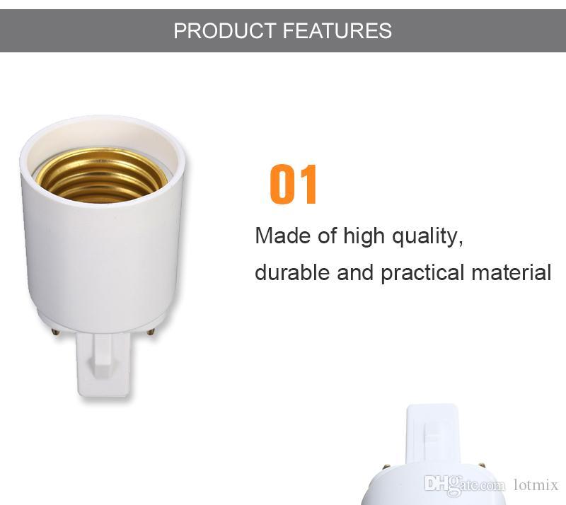 Excellent Quality G23 To E27 Base Socket CFL LED Halogen Light Bulb Lamp Adapter Holder Converter 110-240V