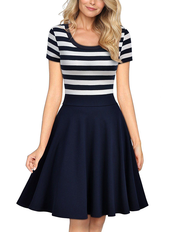 2017 Vintage 1950\'S Panelled A Line Short Retro Gowns Women\'S ...