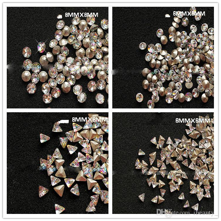 18 styles 3D Nail Art Decorations Glitter Rhinestones Glass Flame