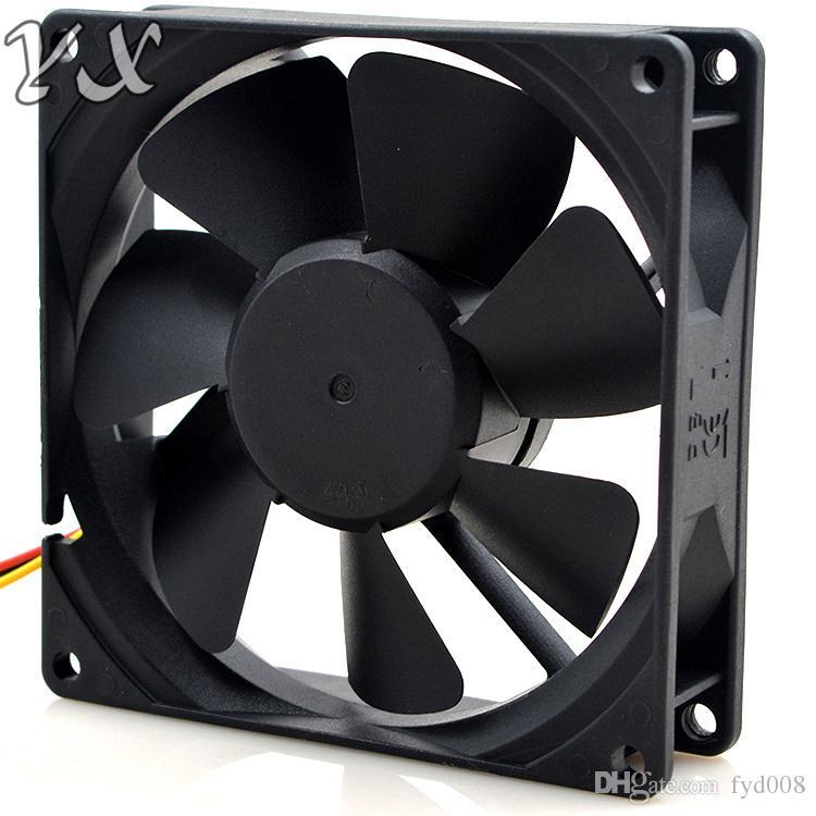 Первоначально воздуходувка компьютера KDE1209PTV1 охлаждая осевой DC 12V 1.8 W 0.15 A вентилятора 9025 90*90*25mm 2800RPM 3 провода