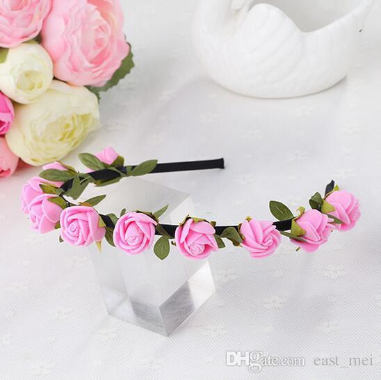 Meilleur cadeau Coiffure bandeau mariée couronne photographie bijoux doux princesse couronne TG191 mélanger ordre 30 pièces beaucoup