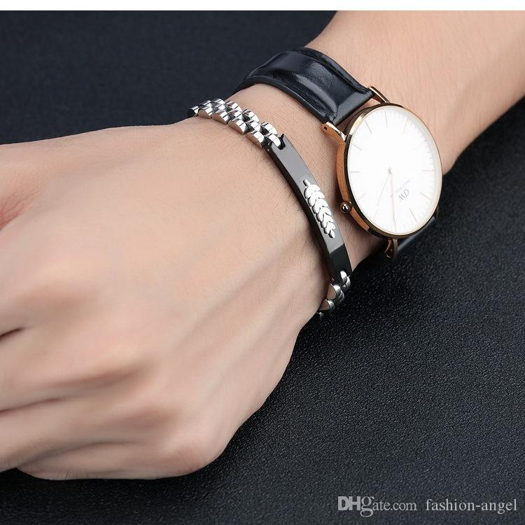 promotional sale *Brand new Christmas gift men's 316L stainless steel bracelet jewelry boy's bracelets boy's gift