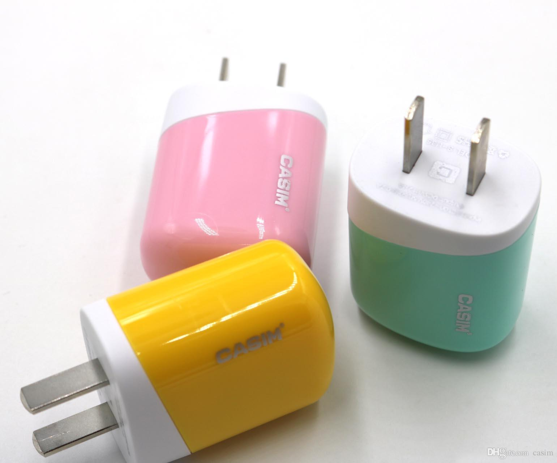 CASIM USB Şarj 2.4A Hızlı Şarj Adaptörü Samsung Galaxy S6 S7 iPhone 7 Telefon Şarj Için mobil cihazlar