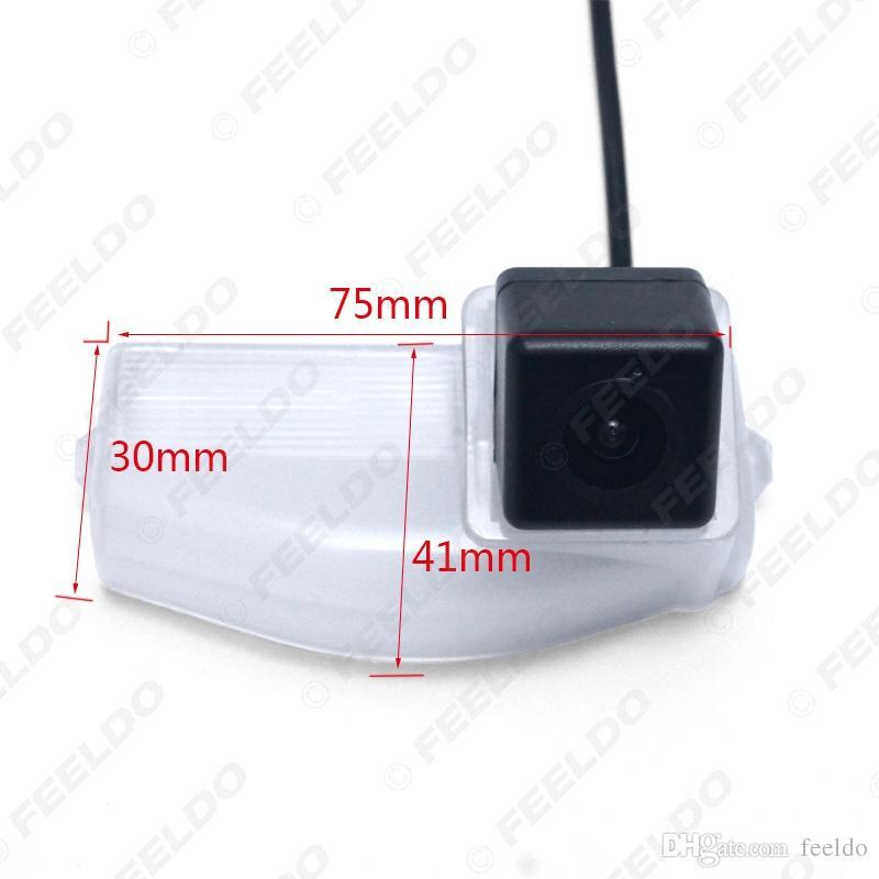 FEELDO Caméra de recul spéciale avec éclairage à LED pour Mazda2 Mazda3 Caméra de recul pour parking # 4517
