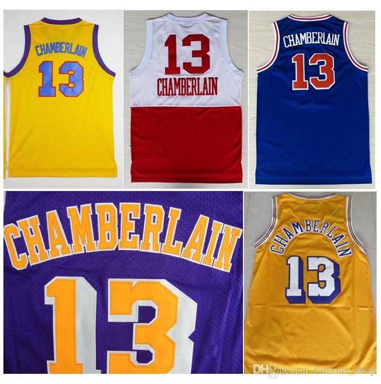 3a062b12164 ... Purple 2017 Wholesale Cheap 13 Wilt Chamberlain Throwback Rev 30 New  Material Basketball Jerseys Retro Home Yellow ...