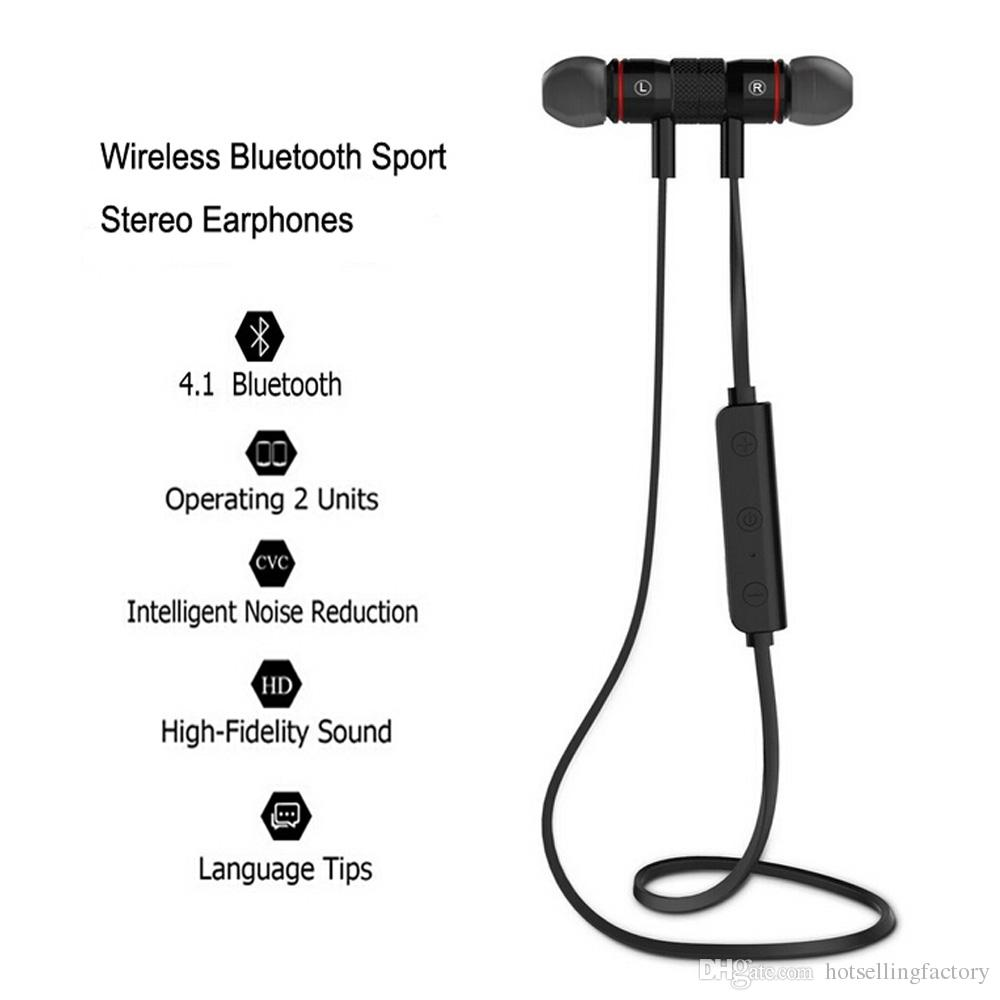 For iPhone 7 Plus Wireless Earbuds M9 Stereo Bluetooth Earphone Sports Headphone Magnetic Earbud In Ear Bluetooth 4.0 Build in Microphone