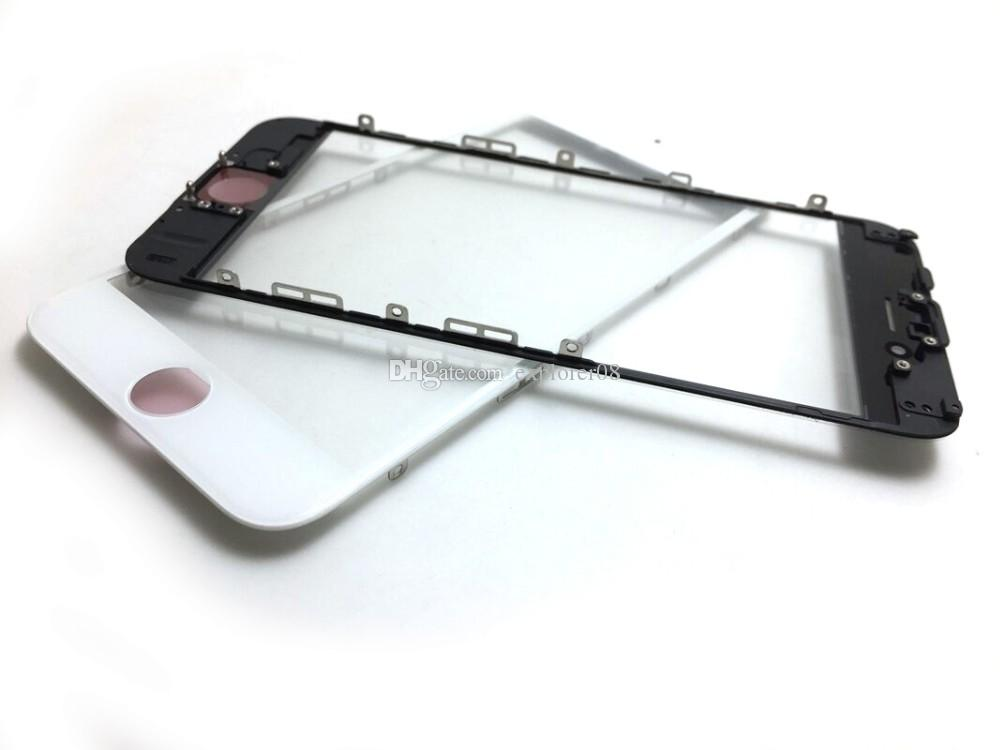 Cold Press Glue front Frame + Glass Lens with OCA Film installed Pre-assemblyed for iPhone 5 6S 6S Plus 7G 7 Puls Black White