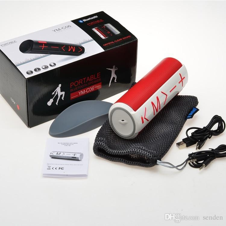 New YM-C06 Mini Portable Bluetooth Wireless Speaker With 1800mah Battery Power support TF Card player PK New Pill Pulse XL Pill V3