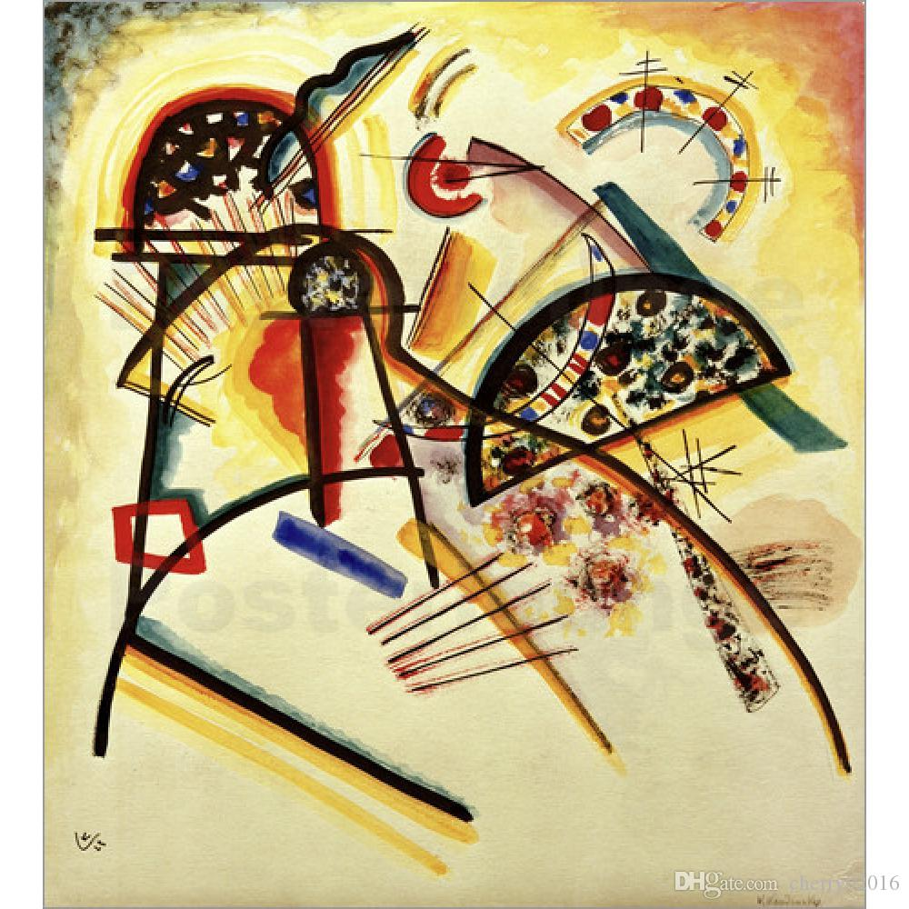 2018 High Quality Wassily Kandinsky Paintings Composition Red,Yellow ...