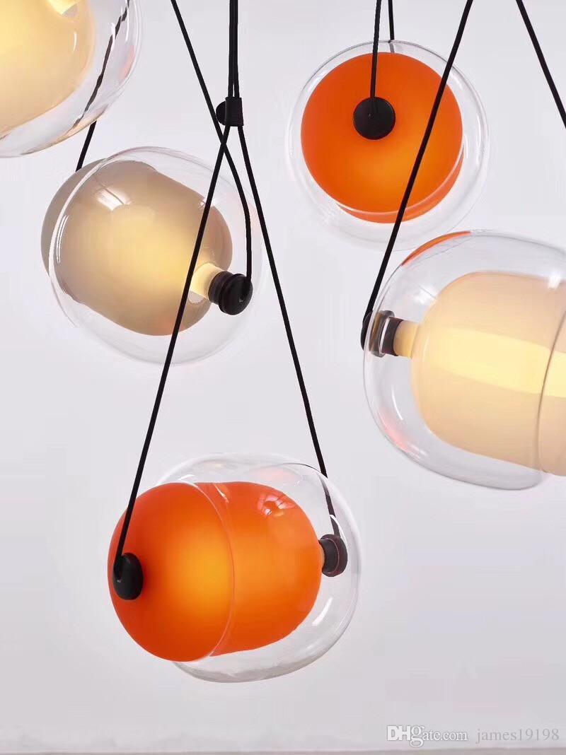 Светодиодные стекла современный подвесной светильник творческий потолочный светильник люстра светильник освещение для столовой отель Home Decor